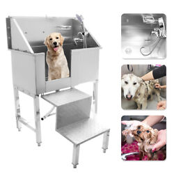34 Stainless Steel Pet Professional Grooming Bath Tub Dog Cat W/faucet Sprayer
