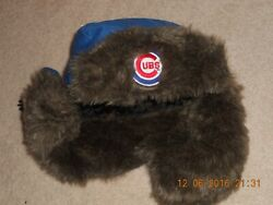 Chicago Cubs Winter Bomber Aviator Style Hat Sga Faux Fur Stay Warm So C@@l W@w