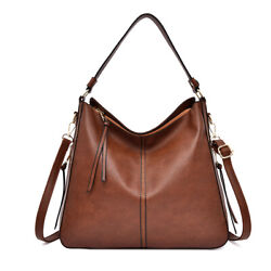 Womens Hobo Bags Faux Leather Purses and Handbags Large with Tassel $35.98