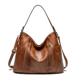 Women Hobo Bags Faux Leather Purses and Handbags with Tassel Crossbody Tote Bag $36.88