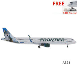 Very Rare1400 Aeroclassics Frontier Airlines A321 N704fr Wolf+free Tractor