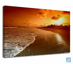 Beach Sunrise At Sandy Beach For Living Room Canvas Print Wall Art Picture GBP 38.99