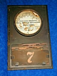 Borger Coal Co Chicago Thermometer Calender Real Estate Insurance 1917 N Howe