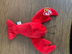 Ty Beanie Babies Pinchers Lobster Pvc Pellets Style 4026 Rare Errors Retired