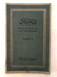 1920 Ford Model T Parts Price List Automobile Advertising Vintage Car Catalog