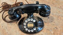 Antique Western Electric D-1 Desk Telephone W Rotary Dial And E-1 Receiver