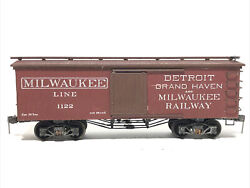 Weathered Ho Scale 1950's Central Valley Detroit Grand Haven And Milwaukee Box Car