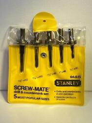New Old Stock Stanley Screw-mate Drill And Countersink 5pc Set Made In Usa 04-615
