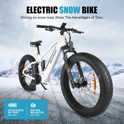 26 9-speed Electric Bike With Bafang 48v 750w Mid Motor 48v14ah Samsung Battery