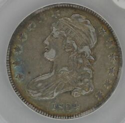 1834 .50 Anacs Ef 45 1800and039s Capped Bust Half Dollar Miss Liberty Bust