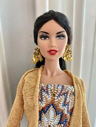 Integrity Fashion Royalty 12 Full Repaint And Dressed Ooak Gown, Jewelry, Top