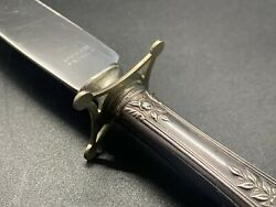 Antique Sterling Rose Handle With Guard - Stainless Carving Knife 10