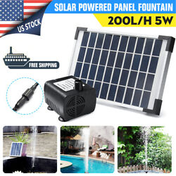 Solar Powered Panel Fountain Pond Pool Water Garden Watering Pump Kit 200l/h