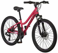 Schwinn High Timber Alx Youth Mountain Bike Aluminum 24 Wheels 21-speed Coral