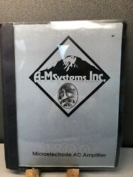 A-m Systems Inc 1800 Microelectrode Ac Amplifier Instruction Manual