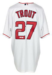 Mike Trout Signed Angels Baseball Jersey Bas Loa A48349 Auto Graded 10
