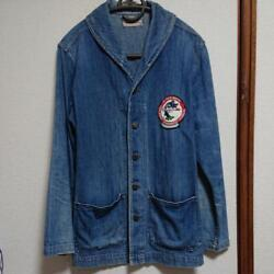 Vintage 40and039s Us Navy Shawl Collar Denim Jacket Size Xs Beauty Products O