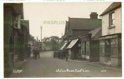 Old Postcard Station Road Shops East Liss Hampshire F.c. Rump Real Photo C.1920