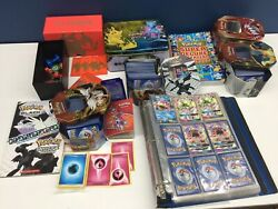 Vtg And Modern Lot Pokemon Trading Cards Evolution Collector Tins Used Mixed