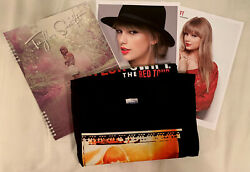 Taylor Swift Red Shirt, Notebook, And Photo Bundle