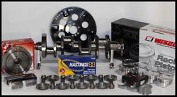 Sbc Chevy 434 Assembly Scat And Wiseco -19.5cc Dh. 4.155 Pistons 2pc Rms-350 Mains