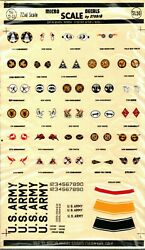 1/72 Micro Scale Decals 72-22 Us Army Squadron Badges Rare Vintage