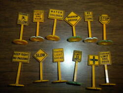 Lot 15 - Orange Signs Plasticville Marx Bachmann Related O Scale 1950's+