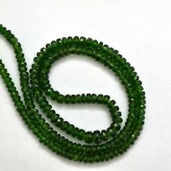 Natural Chrome Diopside 3.5-5mm Faceted Round Gemstone Beads 16 Strand 1005