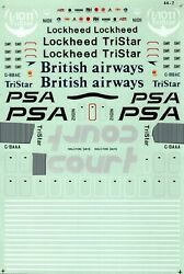 Micro Scale Decals 1144 Lockheed L-1011 Tristar Decal 44-2 Incomplete