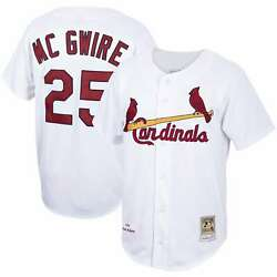 Mark Mcgwire St. Louis Cardinals Mitchell And Ness Home 1998 Cooperstown
