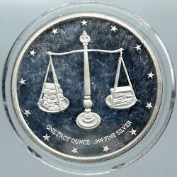 1970s United States Us Constitution Mining Corp Money Silver Medal Token I88767