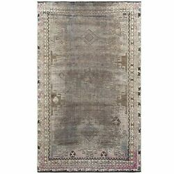 4and0395x7and0392 Semi Antique Beige Farsian Sheeraz Handknotted Organic Wool Rug R60553