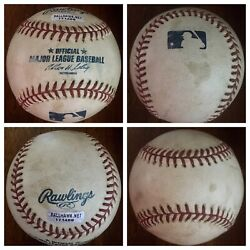 Fred Mcgriff Game Used Baseball Career Home Run 469 7/23/02 Cubs Braves Rays