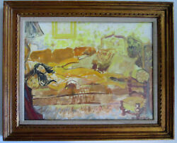 Vintage Oil Painting Listed French Artist Anne Marie Joly. Nude.