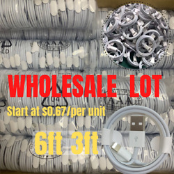 Wholesale Oem Usb Fast Charger Cable 3/6ft Lot For Iphone 12 11 Xr 8 7 Data Cord