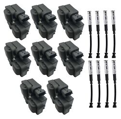 Hitachi Ignition Coils And Spark Plug Wires Kit For Mb C215 C208 C209 W220 R171
