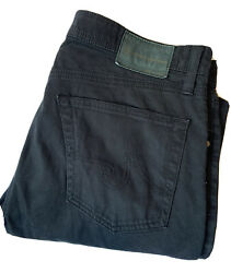 Ag Adriano Goldschmied The Protege Straight Leg Jeans 33x34 Black Stretch Usa