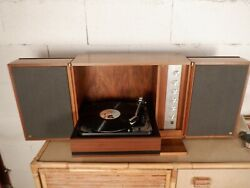 Chaine Hifi Vintage En Bois Dual Hs 21 Made In Germany / Turntable/wood/rare