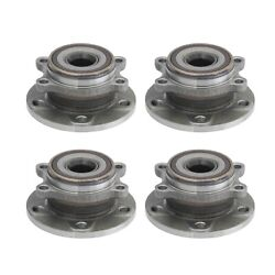 Moog Front And Rear Wheel Bearing And Hub Assemblies Kit For Audi Volkswagen Awd