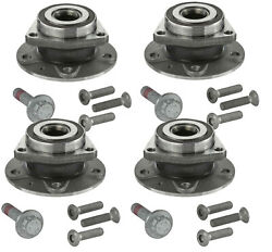 Moog Front Rear Wheel Bearing And Hub Assemblies Kit For Audi A3 Quattro S3 Awd