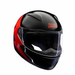 Royal Enfield Bolt Ff Helmet Black And Red Xl-620 Mm Free Shipping Us