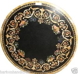 Size 30x30 Marble Semi Precious Coffee Table Top Inlaid Marquetry Decor H1495