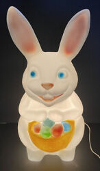 Empire Easter Bunny Blow Mold Colorful Easter Eggs 22 1/2