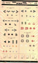 1/72 Scale Micro Scale Decals 72-54 German Aces 2 Rare Vintage