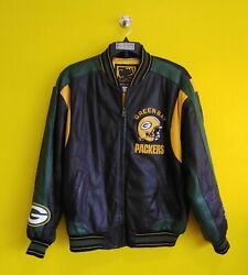 Green Bay Packers Vtg Superbowl Xxxi Champions G-iii Leather Jacket Mens- L