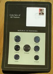 Coins Set Of All Nations - Republic Of Indonesia - Set Of 7 Coins And Stamp Mint