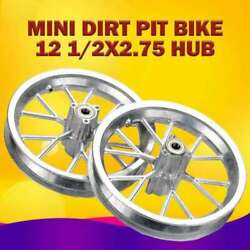 2x Front And Rear Wheels Rims Hubs 12 1/2x2.75 For 49cc Mini Ricing Dirt Bike New