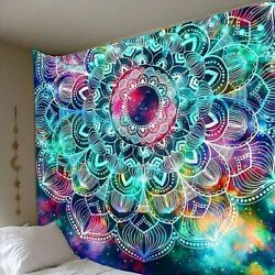 Psychedelic Hippie Mandala Tapestry Wall Hanging Home Blanket Carpet Decor US