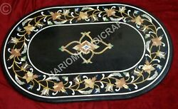 4and039x2and039 Marble Table Dining Top Marquetry Inlay Interior Furniture Decor E836a