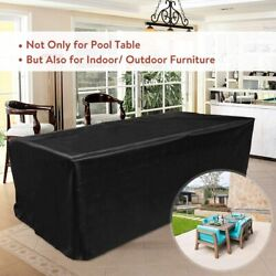 Pool Table Heavy Duty Dust Cover Waterproof Billiards Table Cover 7ft/8ft/9ft